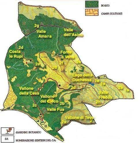 Carta della Vegetazione della Riserva Naturale Montagne della Duchessa nell'Appennino centrale